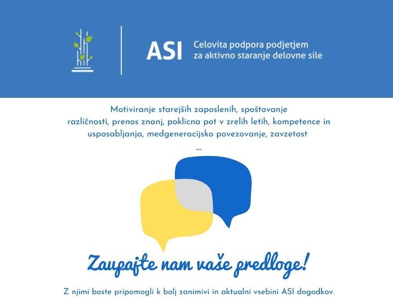 S svojimi predlogi boste pripomogli k bolj aktualnim vsebinam projekta ASI